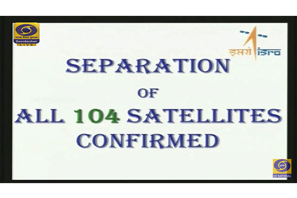 PSLV-C-37 104 Satellites Launched