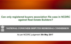 NCDRC Judgement on Buyer Association